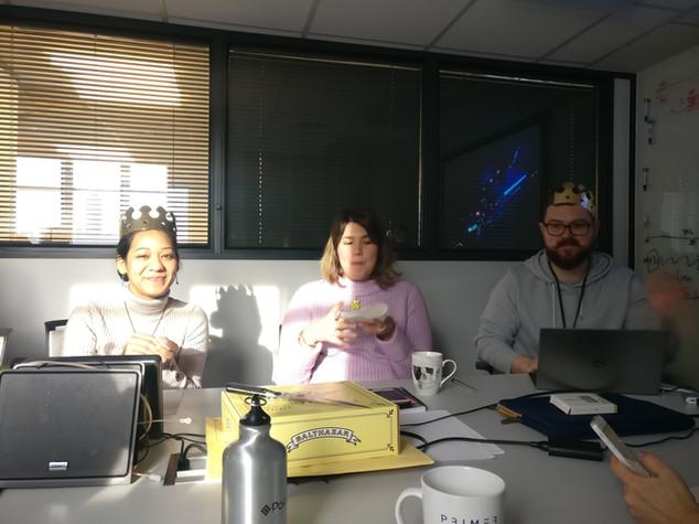 Fete des rois in lab meeting