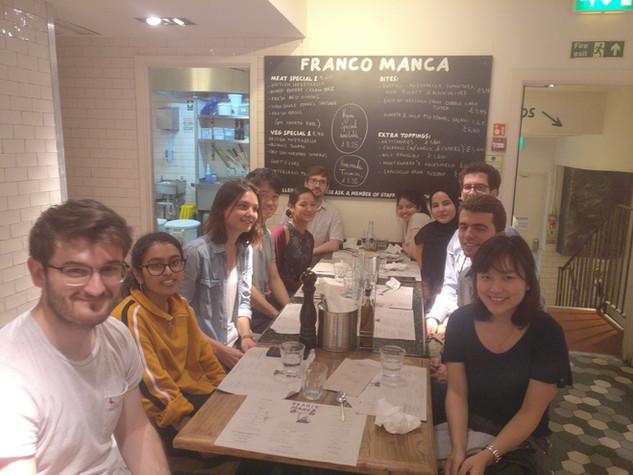 Amoyel & Fernandes labs pizza, June 2019