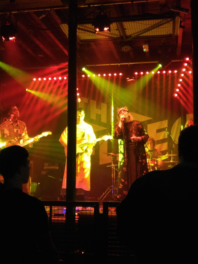 Freya on stage at the Fleece, Bristol