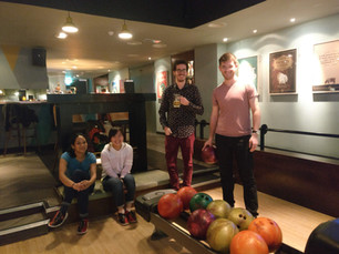 Amoyel and Fernandes labs go bowling