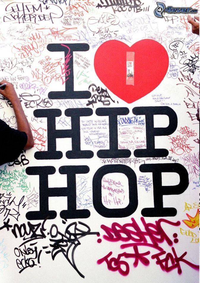 I Love Hip-Hop Graffiti