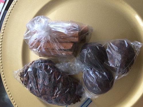 3gwo boul Chocolat Haiti, 1 Anetwoli, 1 kanel combo  free shipping