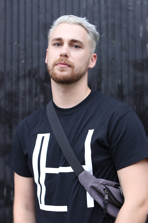 HALLEY BLACK LOGO T-SHIRT