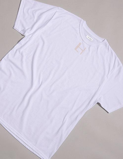 WHITE HALLEY LOGO T-SHIRT - SHORT SLEEVE