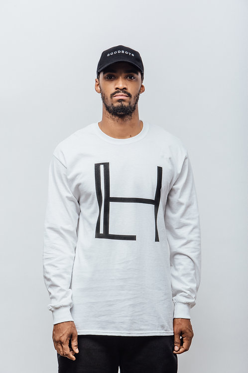 HALLEY WHITE LONG SLEEVE LOGO T-SHIRT