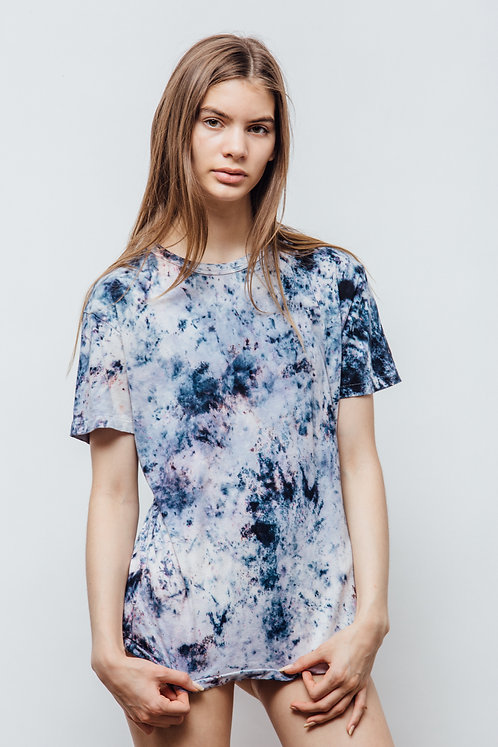 HALLEY BLUE ORGANIC TIE DYE T-SHIRT