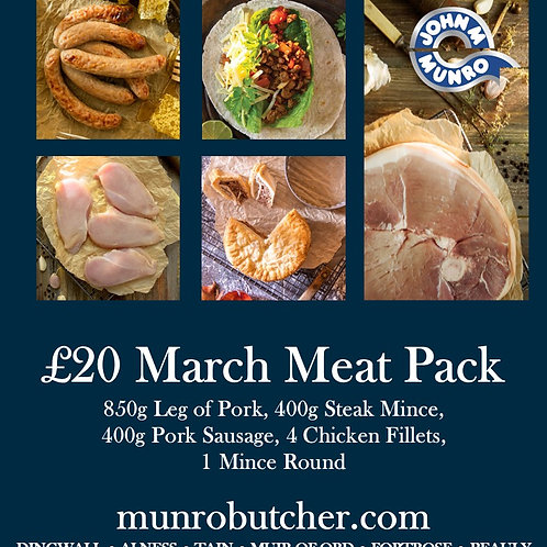 March £20 Meat Pack