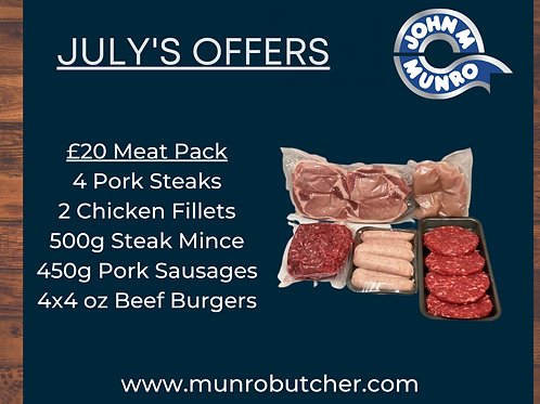 July £20 Meat Pack