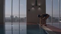 Рекламная съемка тренера по плаванию