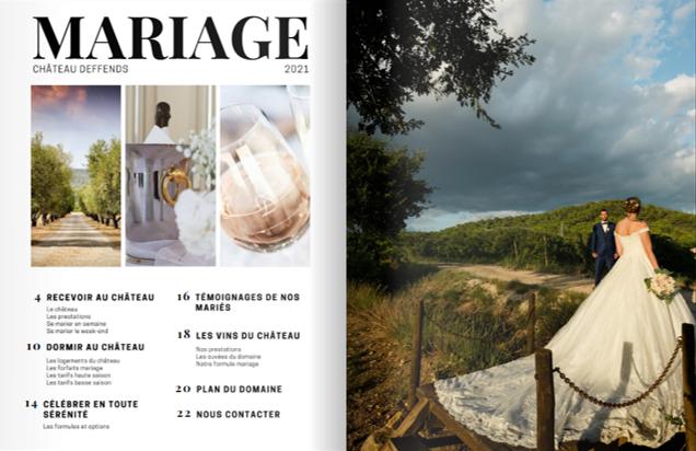 Brochure mariage