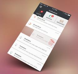 Notifications Screen - iPhone App