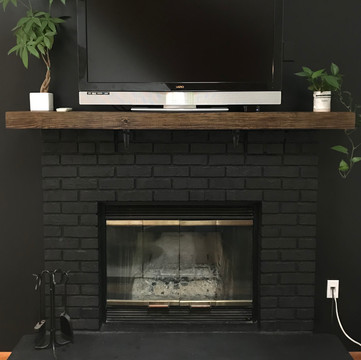 Fireplace and Mantle After