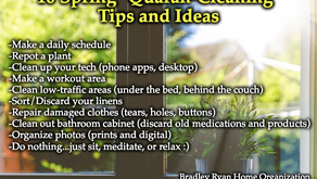 """10 Spring """"Quaran-Cleaning"""" Tips and Ideas from Bradley Ryan Home Organization"""