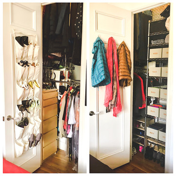 Closet Before/After