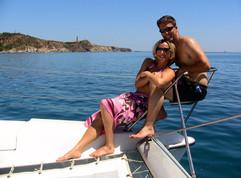 Sortie en mer saint cyprien avec 12 pers maxi catamaran lodos