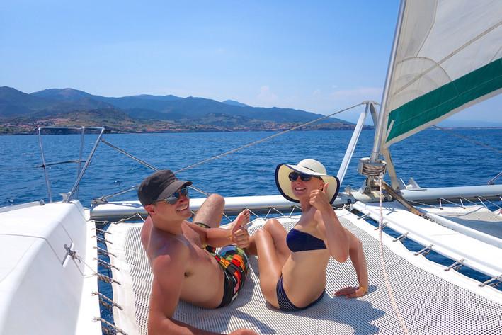 Une sortie, une promenade en mer, VIP à bord du catamaran Lodos