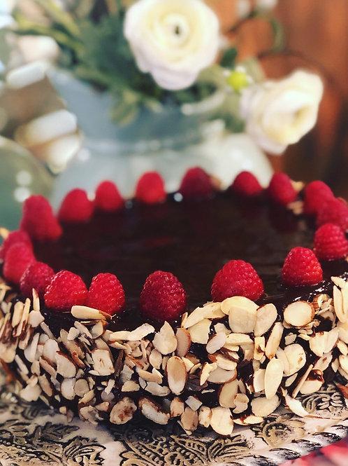 Bells and whistles flourless chocolate cake
