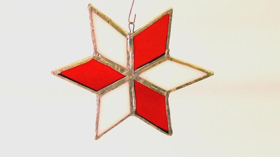 Julstjärna i Tiffany stil 6 uddig