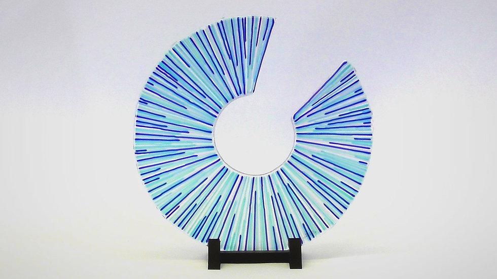 Glasskulptur - Avbrott i tiden