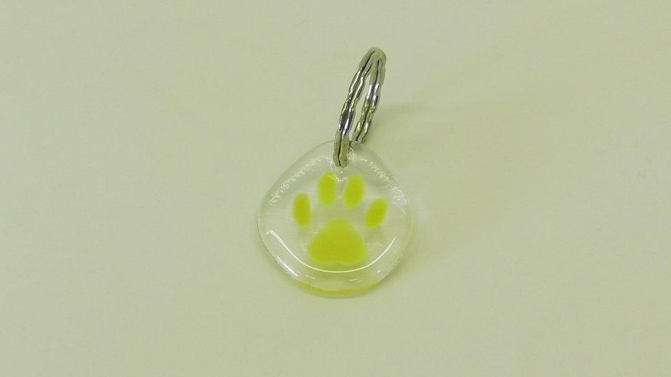 Nyckelring Tass gul