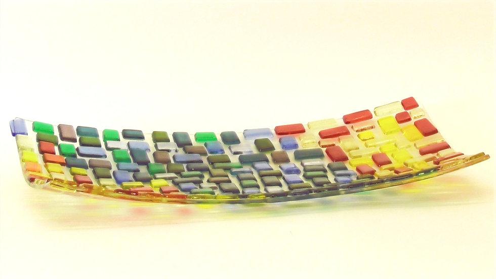 Fat rektangulärt smårutit i färgskala
