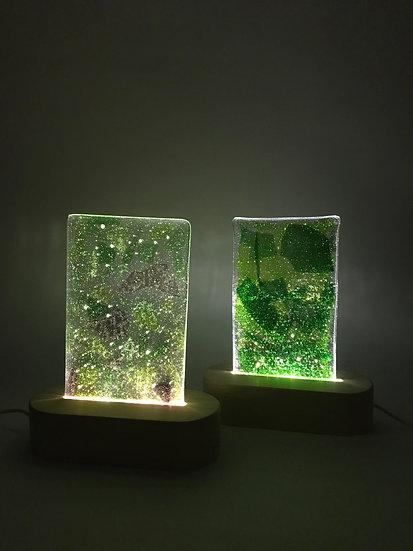 Kopia av Lampa med mönstrat glas i grönt