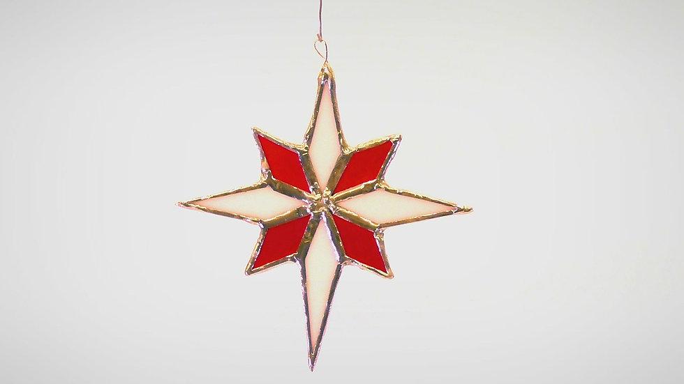 Julstjärna i Tiffany stil 8 uddig