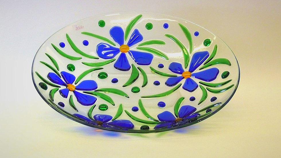 """Fat """"blå blommor"""""""