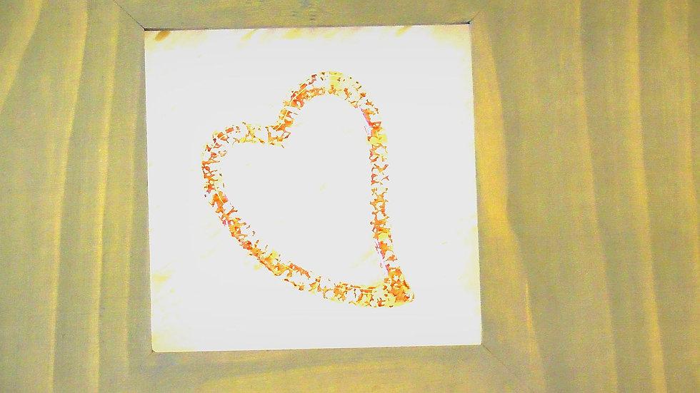 """Tavla med """"hjärta av guld"""""""