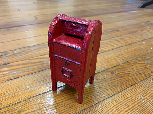 Cast Iron Red Mail Box Bank
