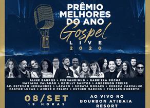 A 4ª edição do Prêmio Melhores do Ano Gospel será transmitida via Live