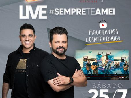 João Márcio & Fabiano: prepare-se para live #SempreTeAmei, dia 25/07/2020