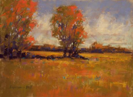 Autumn Marsh Oak Trees