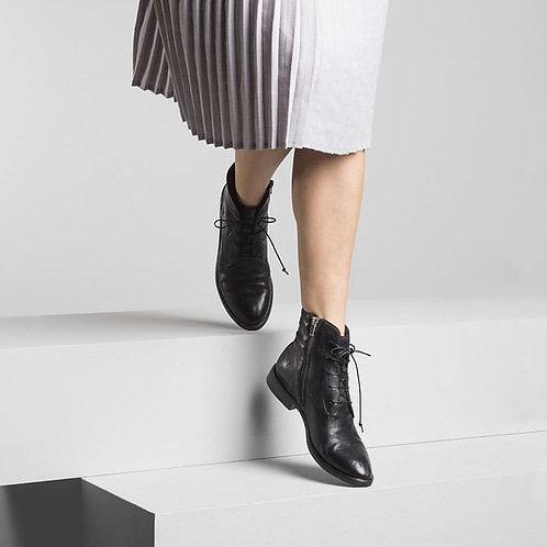 Gidigio - Renna Nero - Black Lace Up Boots
