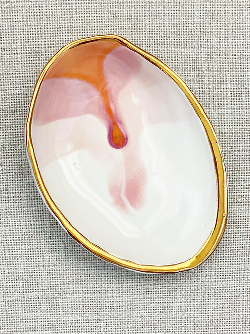Painted Shell Dish
