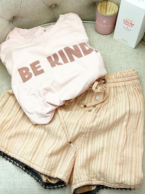 Pale Pink PJ Shorts
