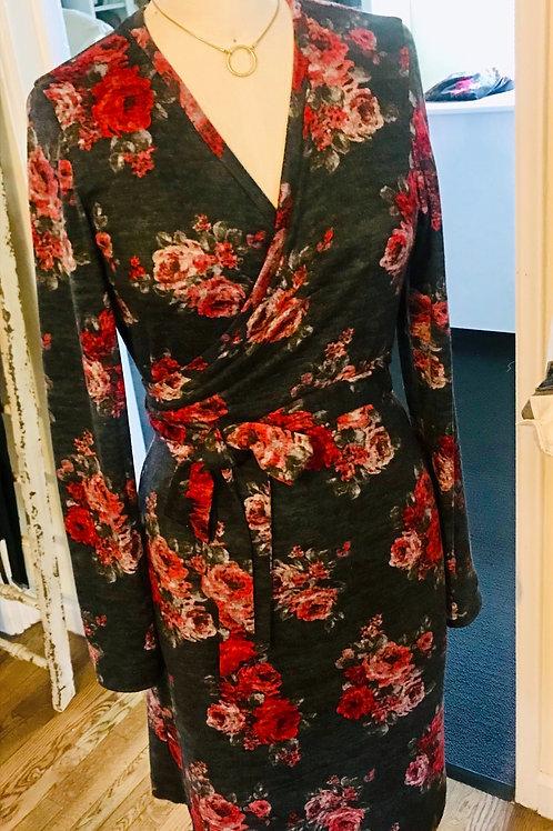 Heather Knit Wrap Dress