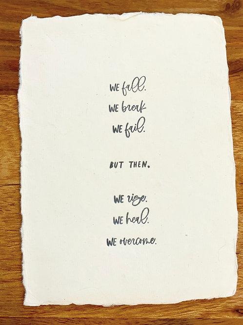 We Fall. We Rise Card