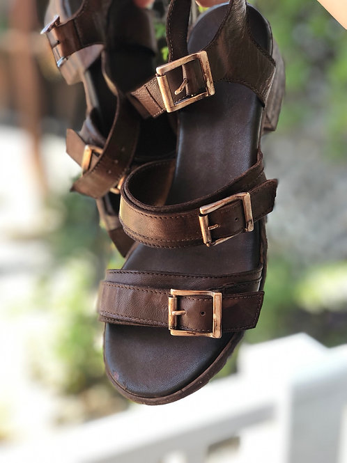 Gidigio T. Capo Tabacco Leather Sandal