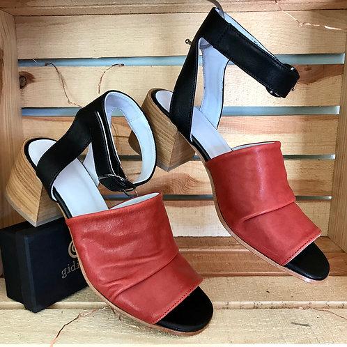 Gidigio Red & Black Sandal