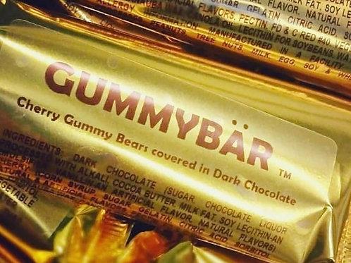 Gummy Bar (TM) - Cherry Gummy Covered With Dark Chocolate