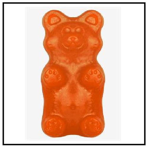 World's Greatest Gummy (TM) Grizzly Bear (2 lbs. Orange)
