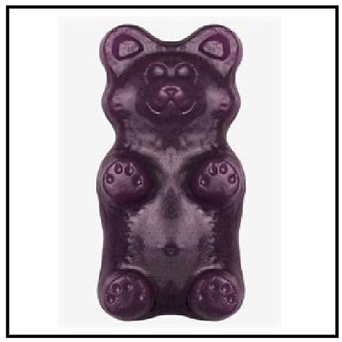 World's Greatest Gummy (TM) Grizzly Bear (2 lbs. Grape)
