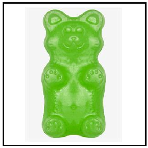 World's Greatest Gummy (TM) Grizzly Bear (2 lbs. Lime)