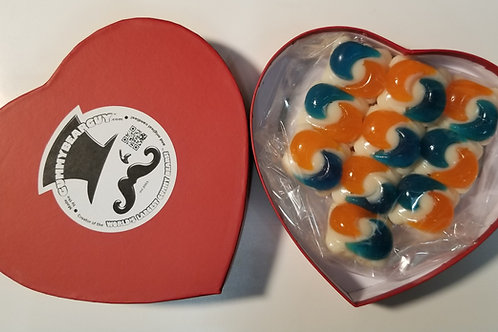 Valentine's Gummy Pods Heart Box