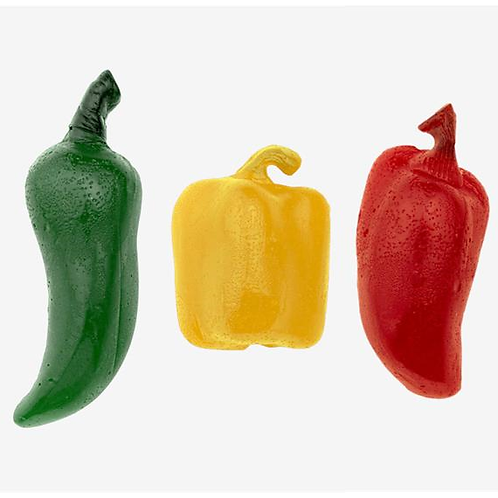 Gummy HOT Peppers 3-Pack (Jalapeno, Habanero, Ghost Pepper))