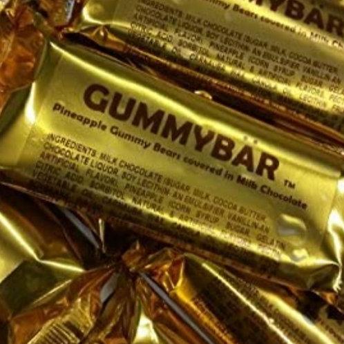 Gummy Bar (TM) - Pineapple Gummy Covered With Milk Chocolate