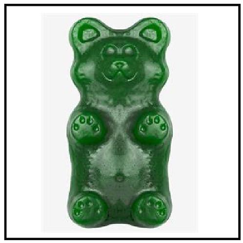 World's Greatest Gummy (TM) Grizzly Bear (2 lbs. Green Apple)