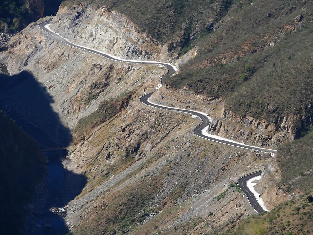 Mountain roads to Batopilas, Chihuahua, Mexico