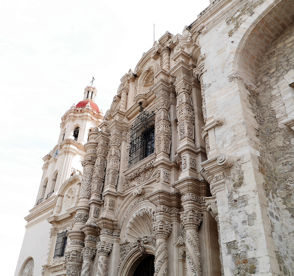 cathedral in Saltillo, Coahuila, Mexico town center